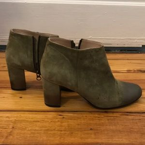 Anthropologie Made in Italy green booties